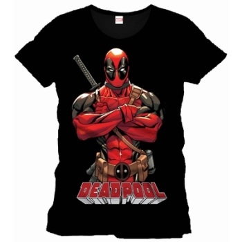 Official Marvel Deadpool t-shirt front pose