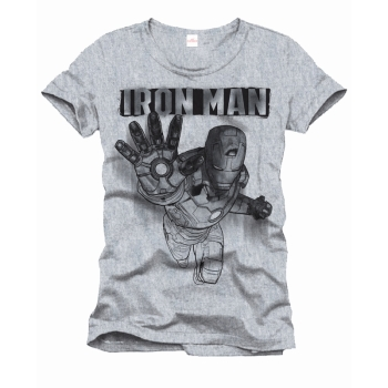 Iron Man Drawing official Marvel T-shirt Grey