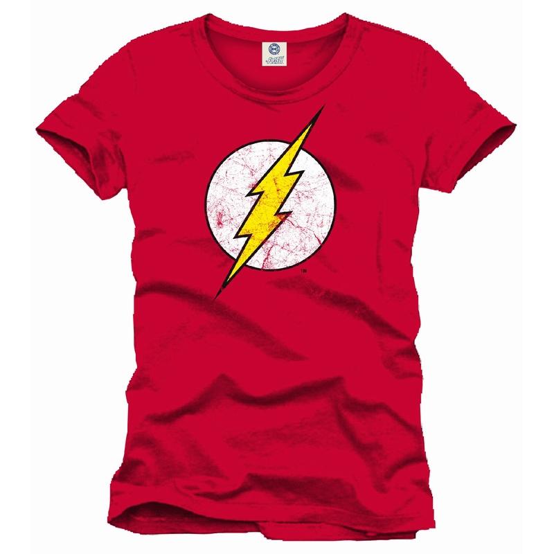 Flash DC Comics distressed logo t-shirt Red