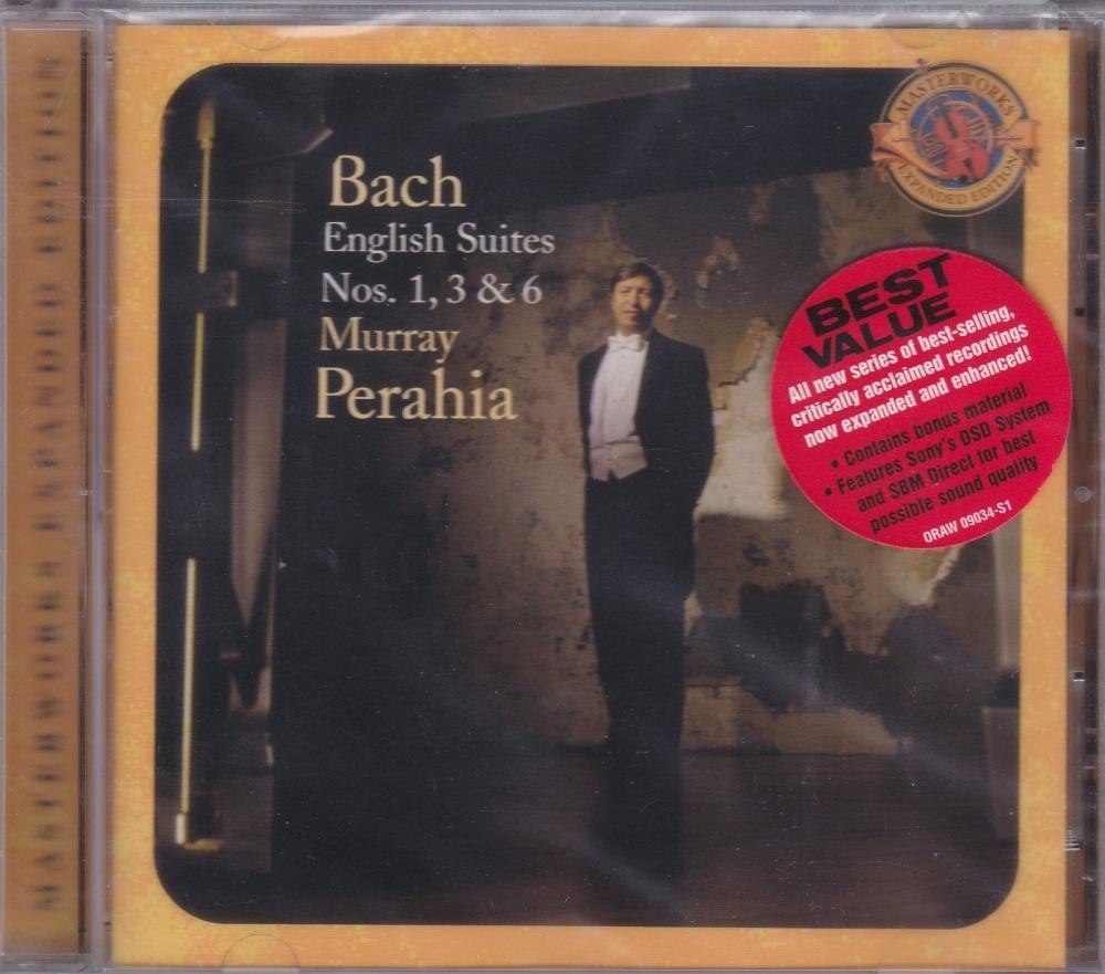 Bach  English Suites Nos. 1,3 & 6   Murray Perahia    2004 CD Masterworks E