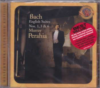 Bach  English Suites Nos. 1,3 & 6   Murray Perahia    2004 CD Masterworks Expanded Edition