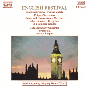 English Festival      Elgar :Enigma Variations, pomp And Circumstance Marches  1989 CD
