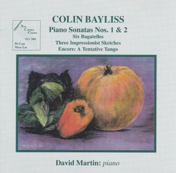 Colin Bayliss   Piano Sonatas Nos. 1&2 And Other Works  1998 CD