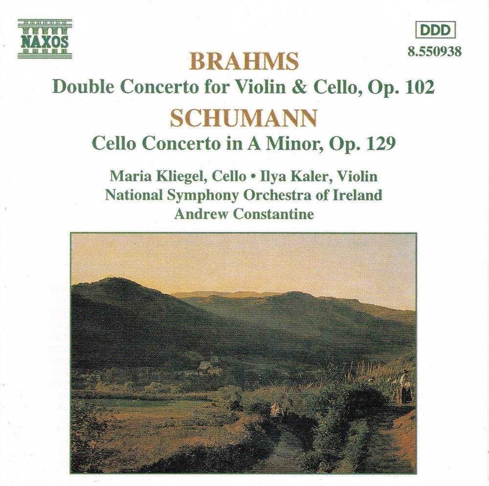 Brahms , Schumann   Concertos  National Symphony Orchestra ,Andrew Constant