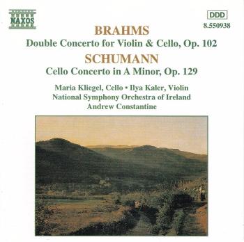 Brahms , Schumann   Concertos  National Symphony Orchestra ,Andrew Constantine  1995 CD