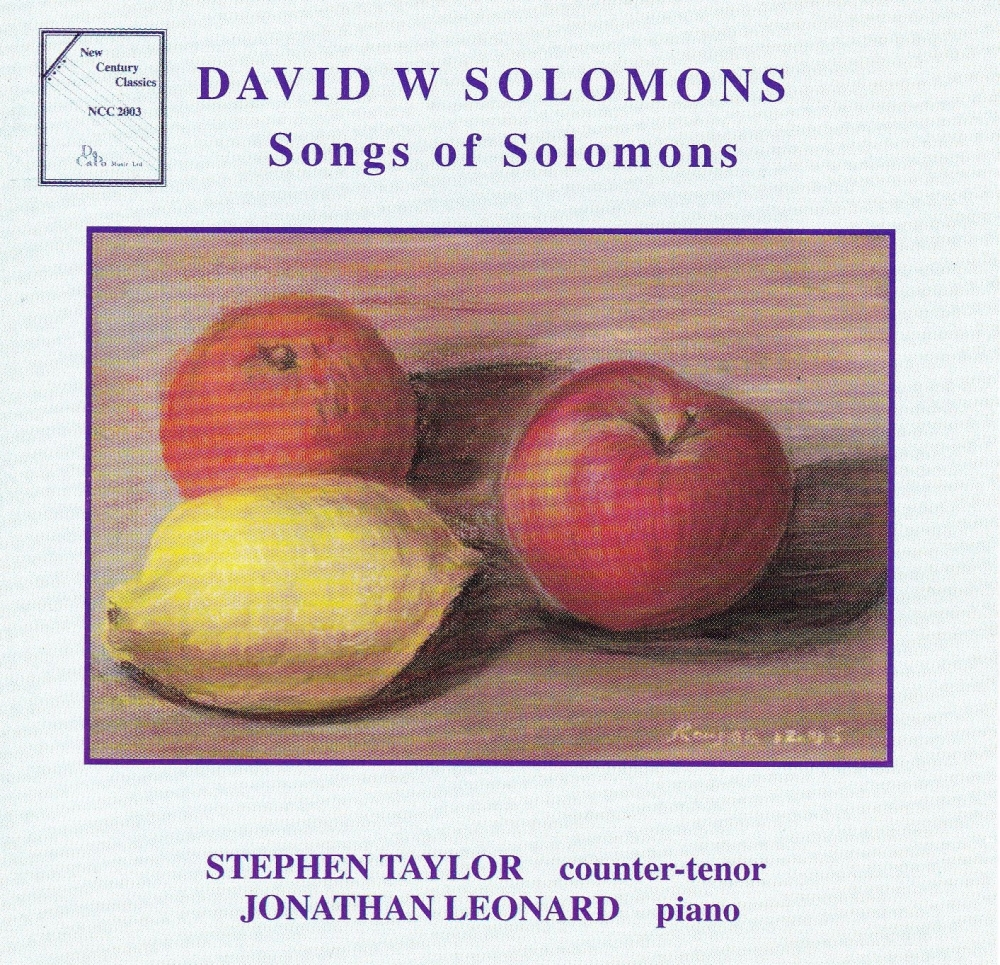 David W Solomons    Songs Of Solomons     2001 CD