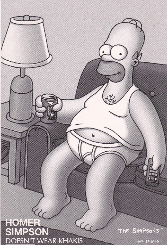 The Simpsons   Homer Simpson Doesn't Wear Khakis   Postcard
