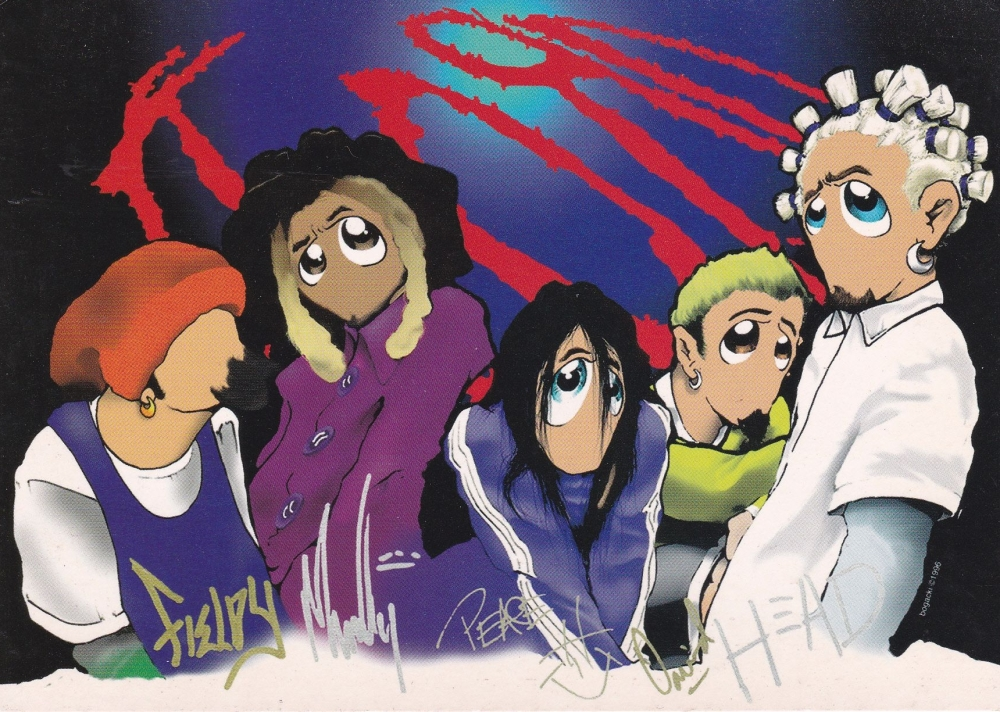Korn  Characters    Postcard