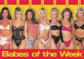 Babes Of The Week    Postcard
