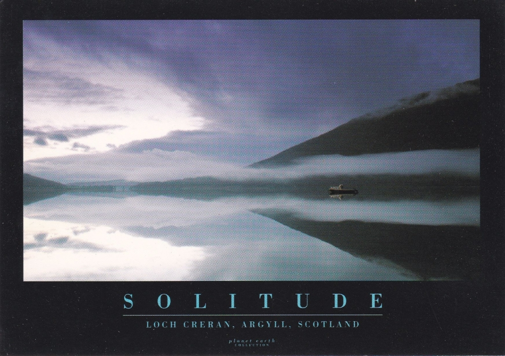 Solitude  ( Loch Creran, Argyll, Scotland )  Postcard ( Planet Earth Collec