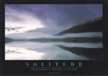 Solitude  ( Loch Creran, Argyll, Scotland )  Postcard ( Planet Earth Collection )