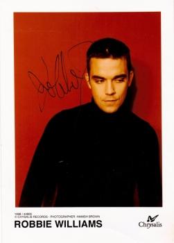 "Robbie Williams   Autographed Colour  5""X 7""  Signed Picture"