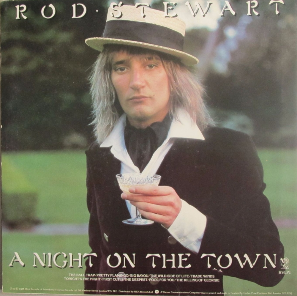 Rod Stewart    A Night On The Town    1976 Vinyl LP   Pre-Used