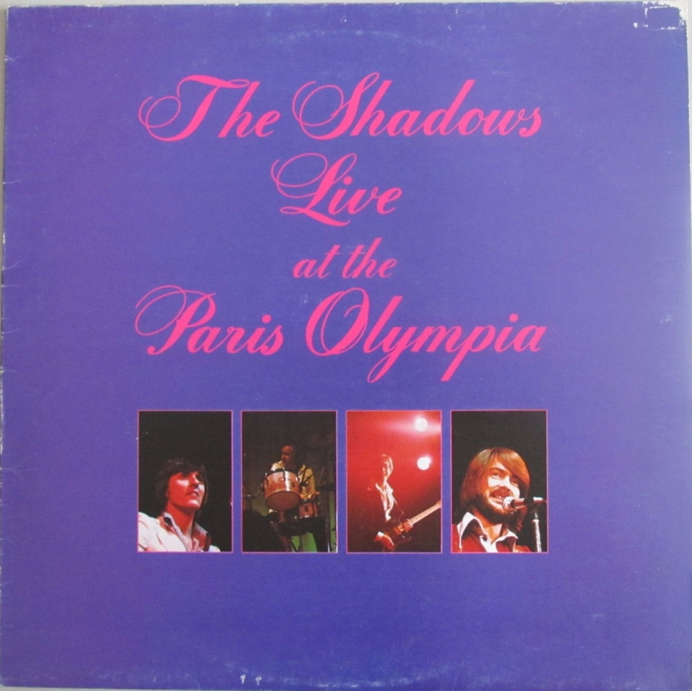 The Shadows    The Shadows Live at The Paris Olympia    1975 Vinyl LP  Pre-