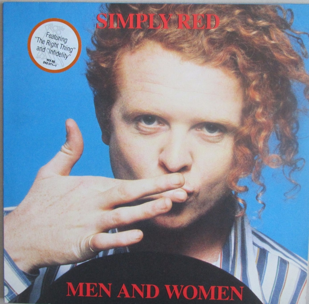 Simply Red      Men And Women     1987 Vinyl LP   Pre-Used