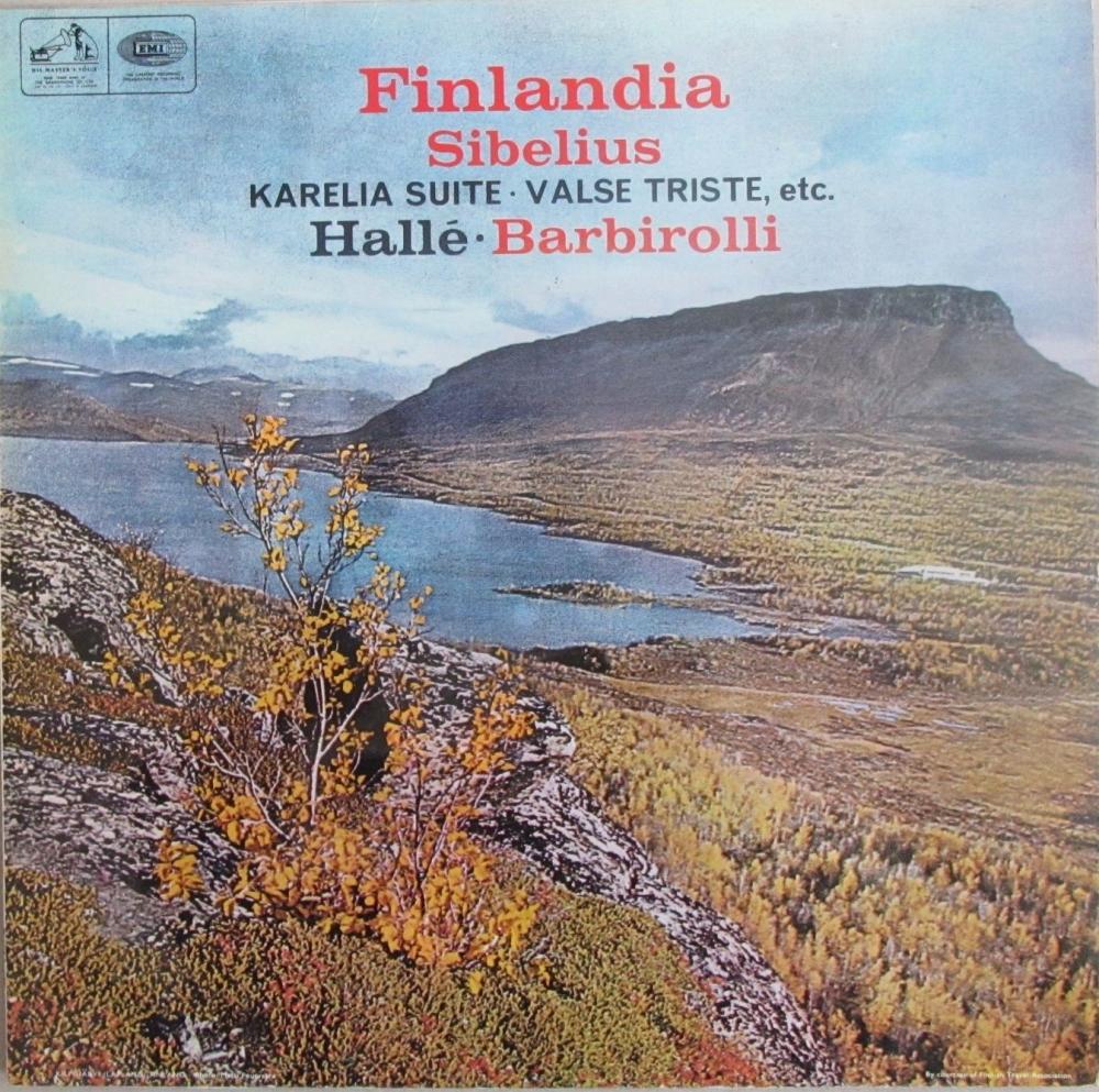 Sibelius    Finlandia  Halle / Barbirolli    1966 Vinyl LP  Pre-Used