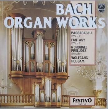 Bach    Organ Works      1977 Vinyl LP   Pre-Used