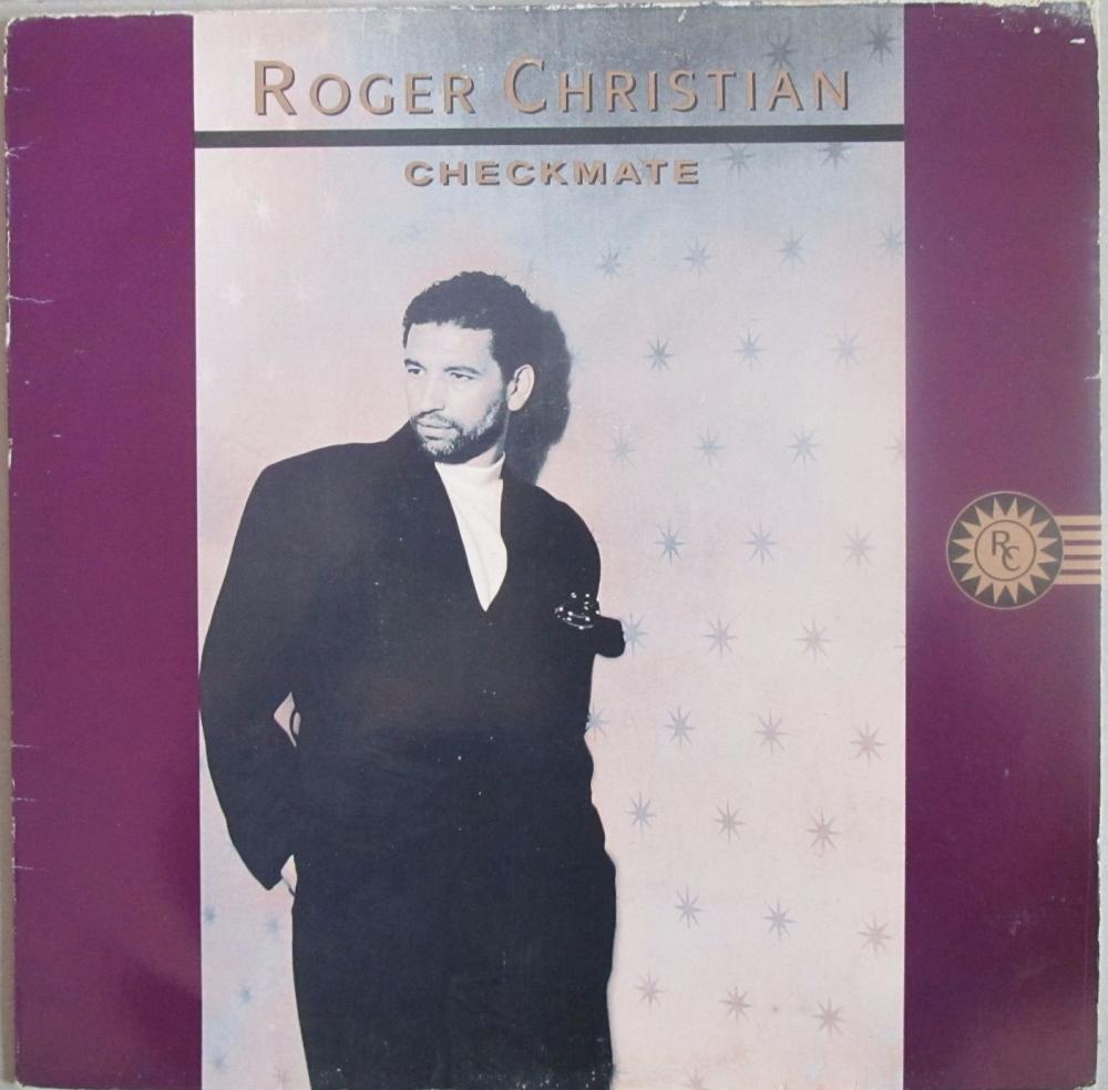 Roger christian    Checkmate    1989 Vinyl LP  Pre-Used