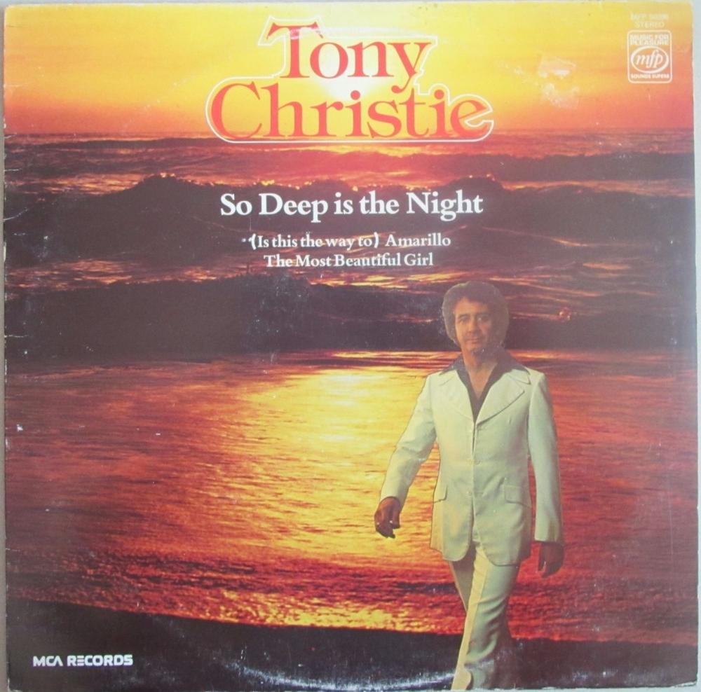Tony Christie     So Deep Is The Night      1978 Vinyl LP    Pre-Used