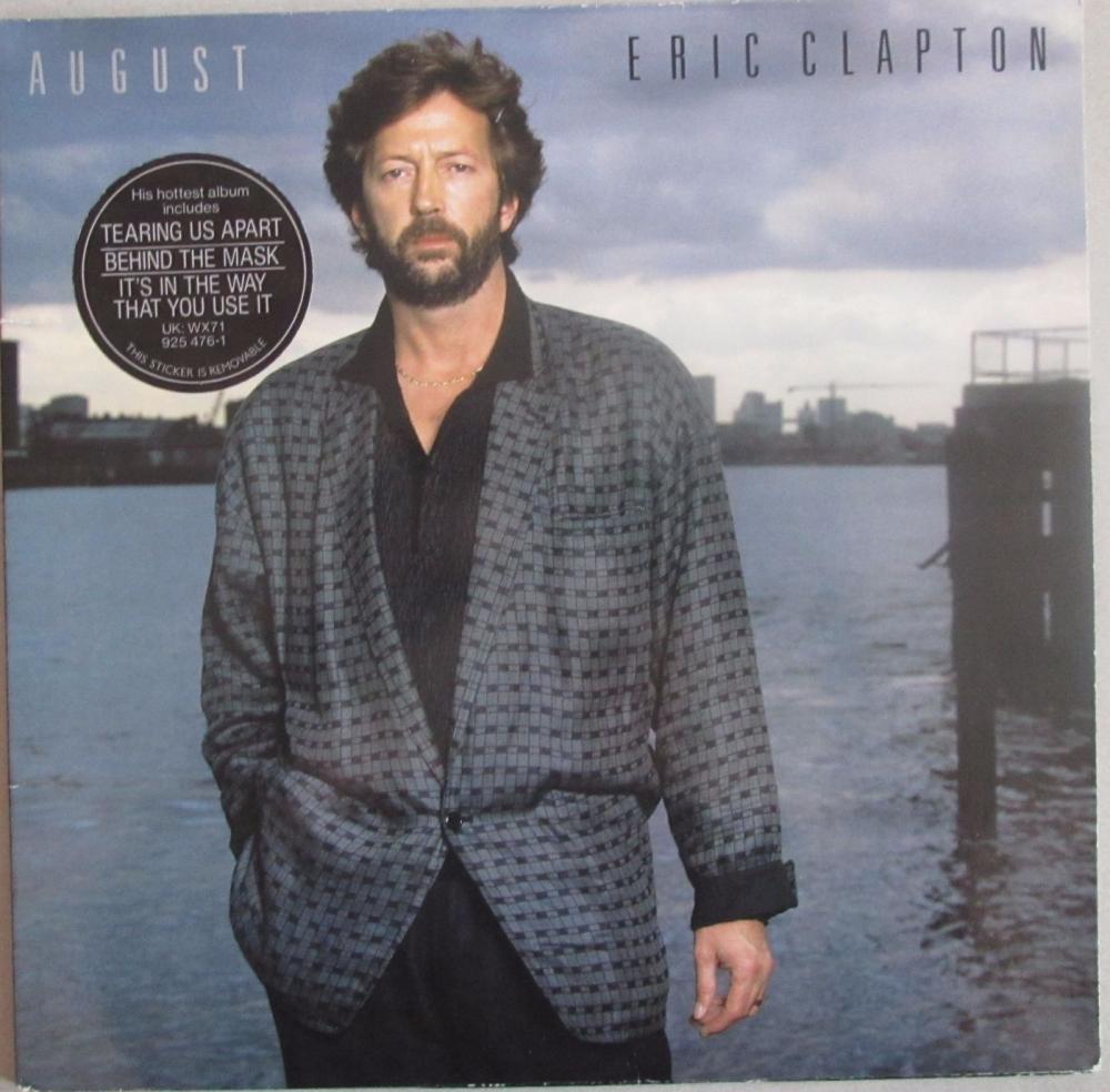 Eric Clapton     August    1986 Vinyl LP     Pre-Used
