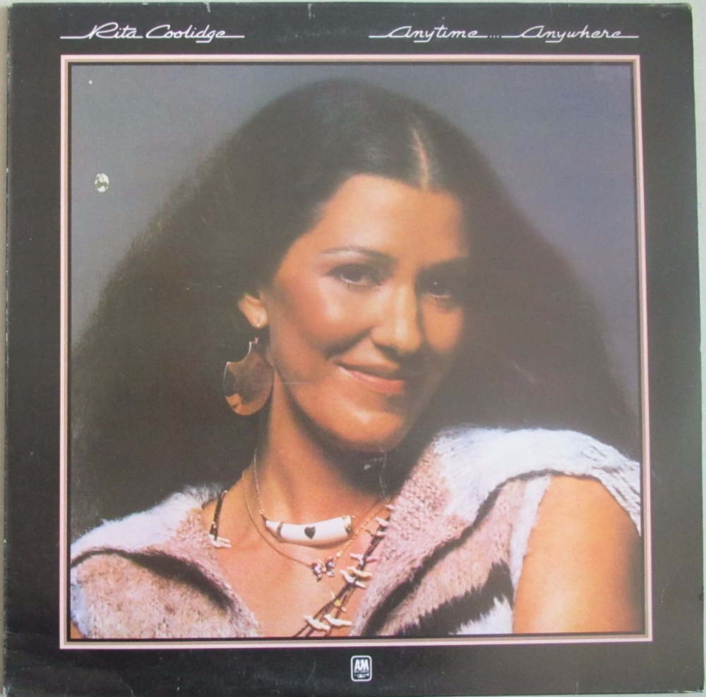 Rita Coolidge      Anytime Anywhere    1977 Vinyl LP   Pre-Used