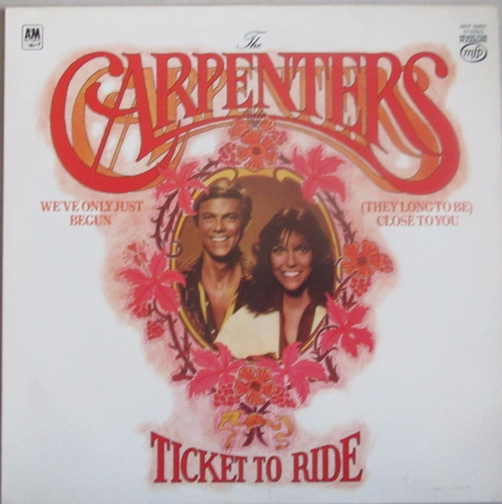 Carpenters     Ticket To Ride        1970 Vinyl LP   Pre-Used