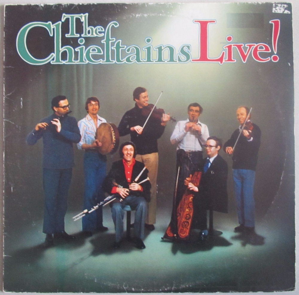 The Chieftains      Live!        1977 Vinyl LP   Pre-Used