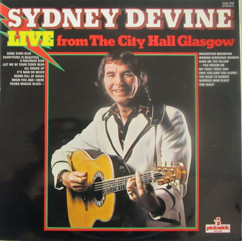 Sydney Devine     Live From The City Hall Glasgow      1975 Vinyl LP   Pre-