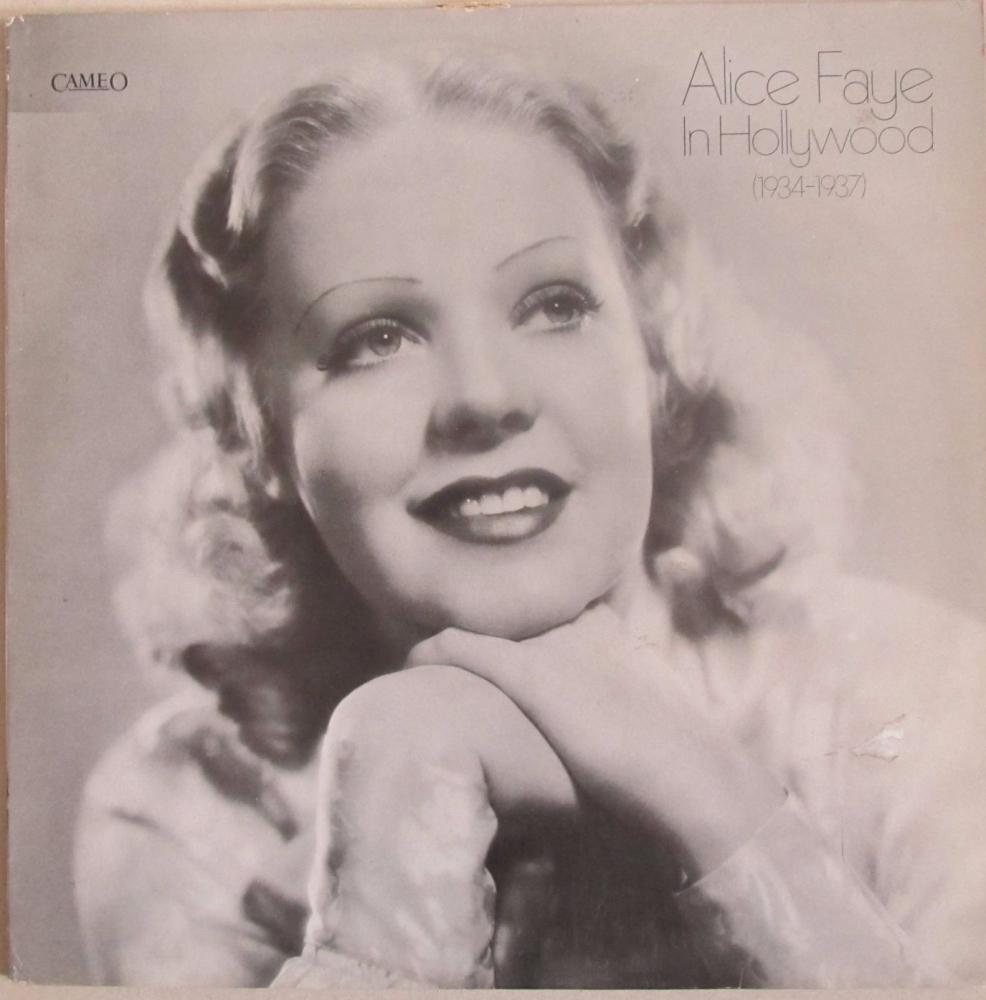 Alice Faye       In Hollywood (1934-1937)      Vinyl LP   Pre-Used
