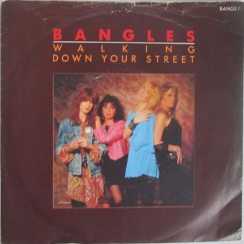 "Bangles        Walking Down Your Street     1986 Vinyl 7"" Single  Pre-Used"