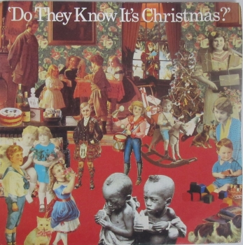 """Band Aid     Do They Know It's Christmas ?      1984  Vinyl 7"""" Single    Pre-Used"""