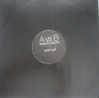 "A vs B        Ripped In 2 Minutes          12""Vinyl  Single Pre-Used"