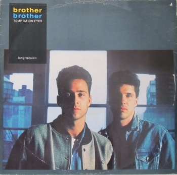 "Brother Brother     Temptation Eyes ( Long Version)      1989 Vinyl 12"" Single  Pre-Used"