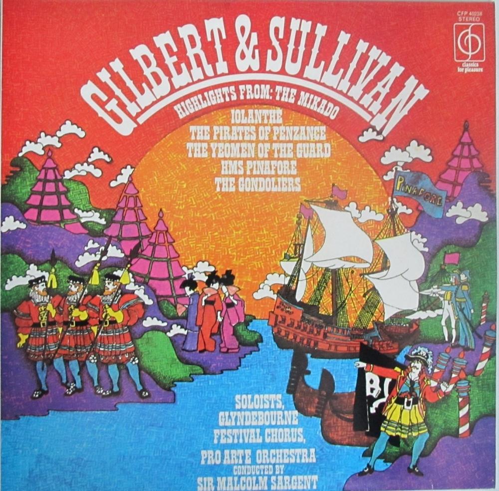 Gilbert & Sullivan  Highlights        Vinyl LP    Pre-Used