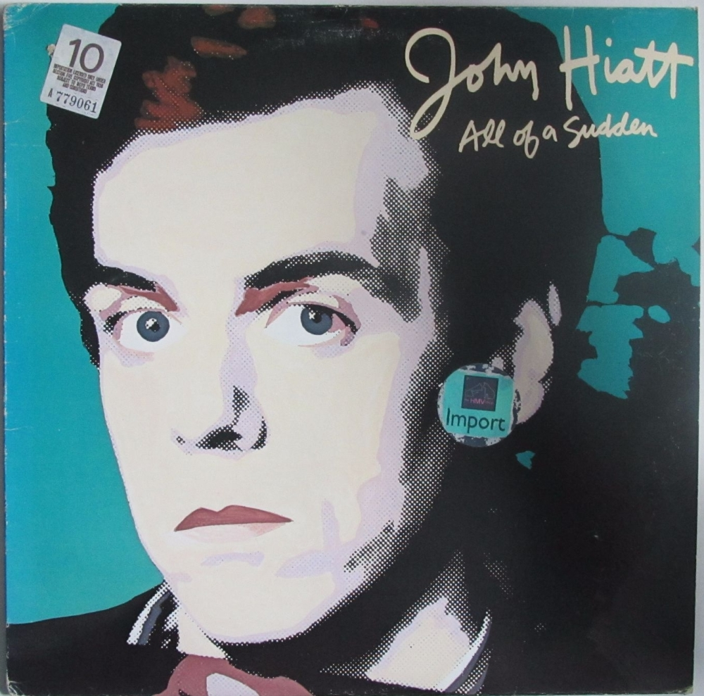 John Hiatt       All Of A Sudden         1982 Vinyl LP     Pre-Used
