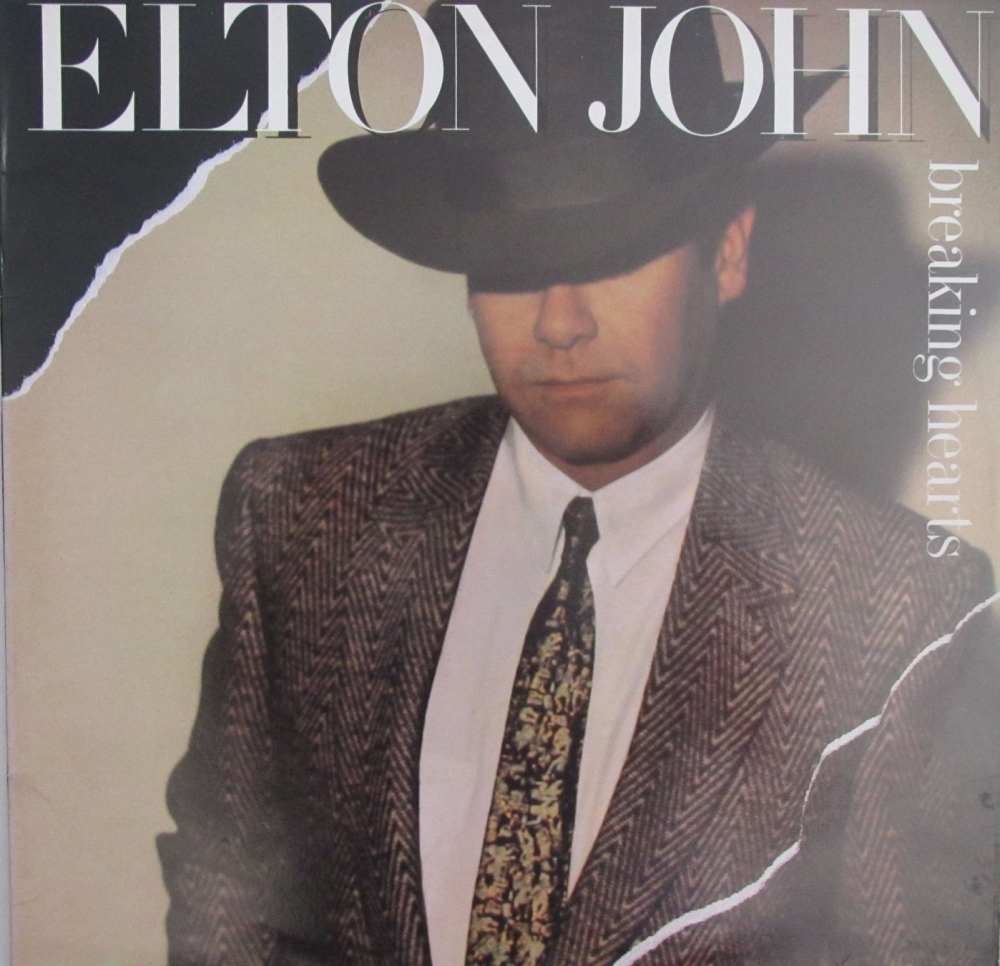 Elton John        Breaking Hearts         1984 Vinyl LP       Pre-Used