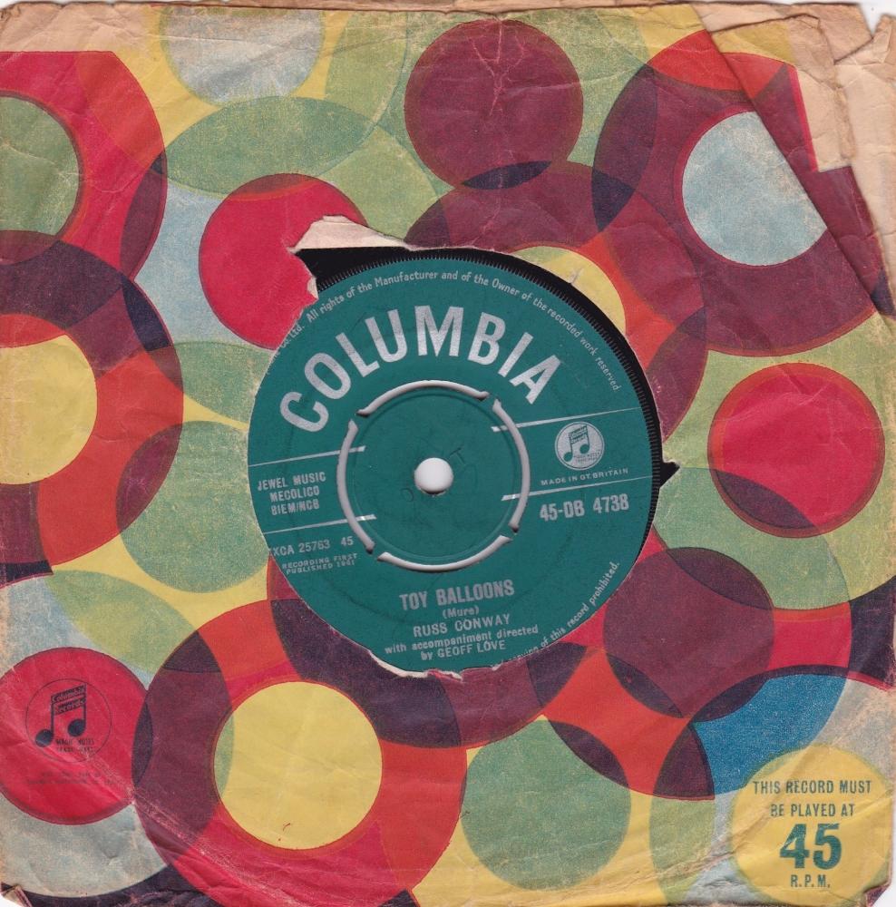 Russ Conway       Toy Balloons       1961 Vinyl 7