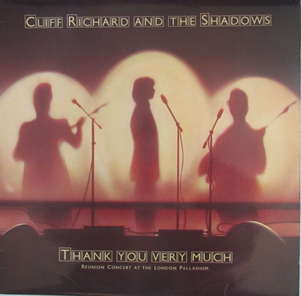 Cliff Richard And The Shadows     Thank You Very Much     1979 Vinyl LP   P