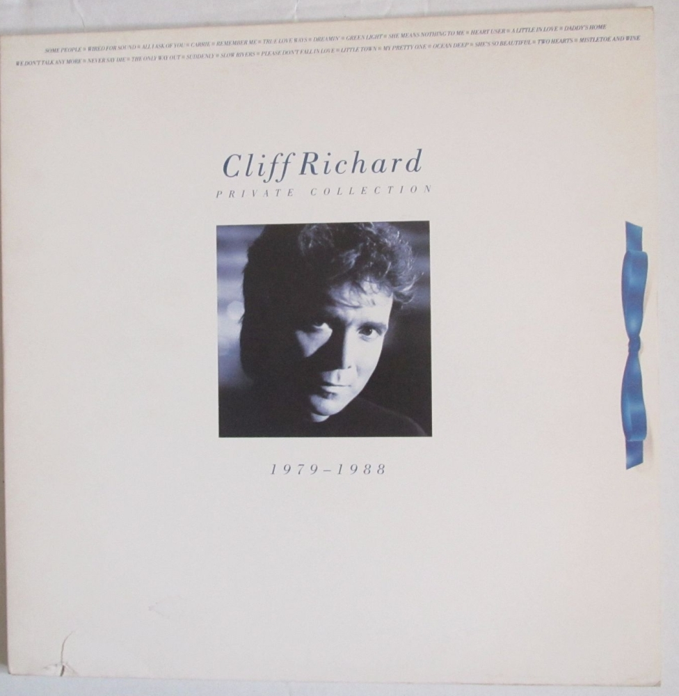 Cliff Richard          Private Collection     1988  Double Vinyl LP   Pre-U