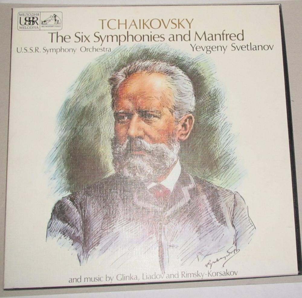 Tchaikovsky  The Six Symphonies And Manfred  U.S.S.R. Symphony Orchestra Ye