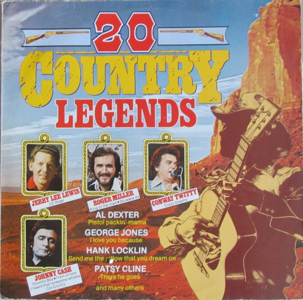 Various Artists     20 Country Legends      Vinyl LP    Pre-Used