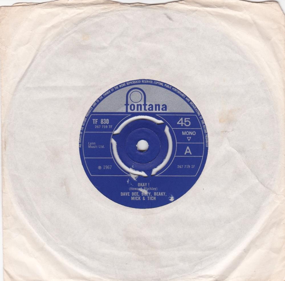 Dave Dee, Dozy, Beaky, Mick & Tich      Okay !       1967 Vinyl 7