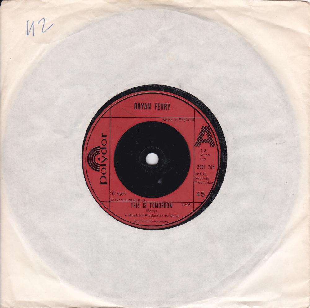 Bryan Ferry      This Is Tomorrow      1977 Vinyl 7