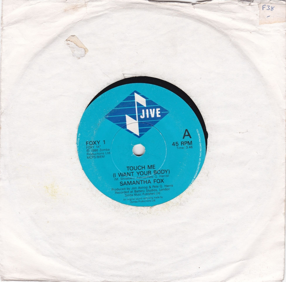 Samantha  Fox        Touch Me  (I Want Your Body )   1986 Vinyl 7