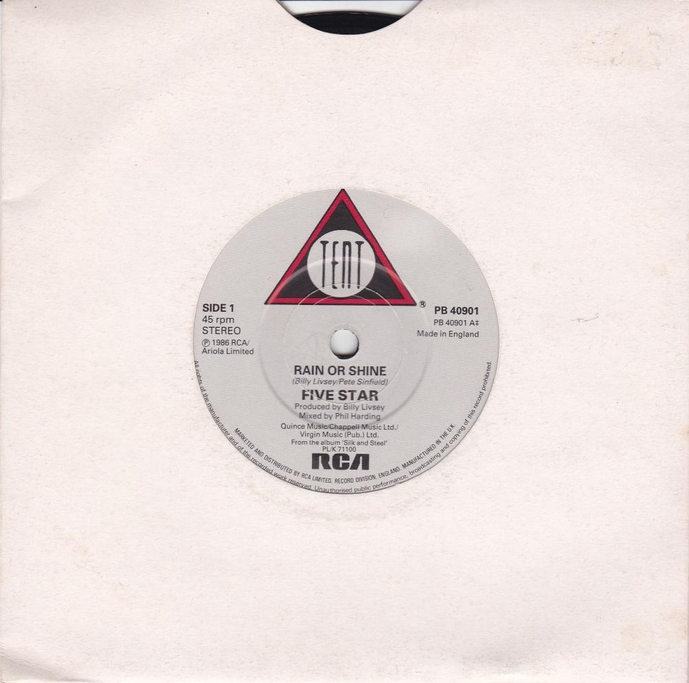 Five Star       Rain Or Shine       1986 Vinyl 7