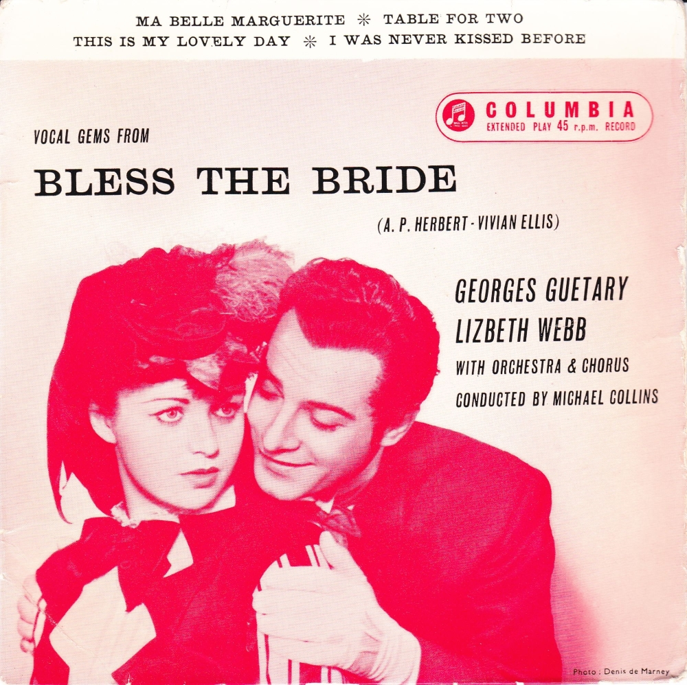 Vocal Gems From Bless The Bride    Georges Guetary /Lizbeth Webb  Vinyl 4 T
