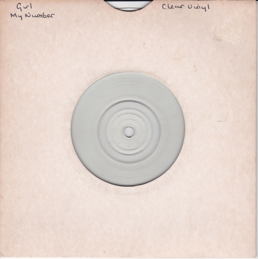 Girl      My Number      Clear Vinyl 1979  7