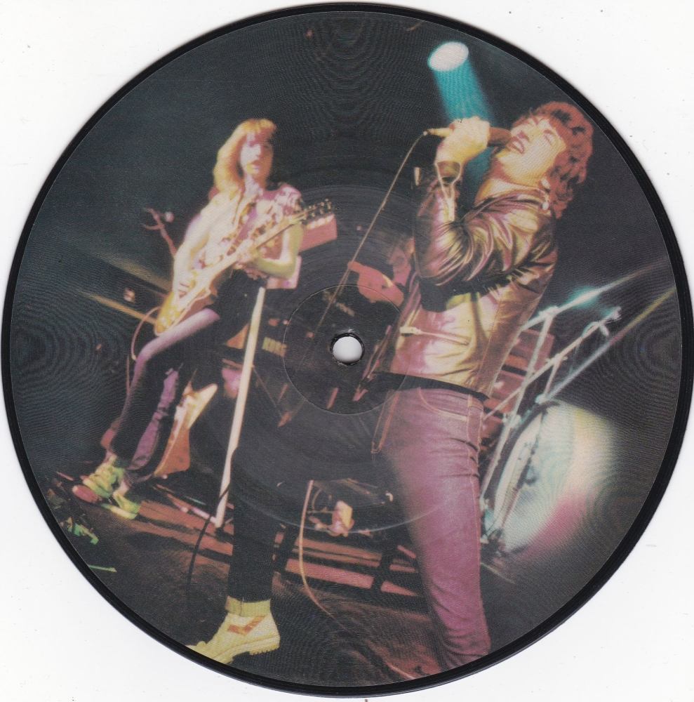 Grand Prix       Life On The Line       1981 Picture Disc Vinyl 7