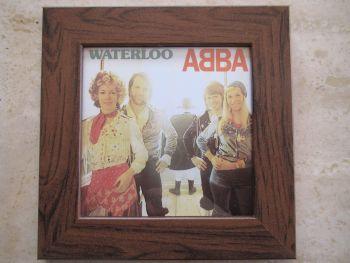 Abba  Waterloo     Framed Original CD Album Sleeve    Walnut Frame