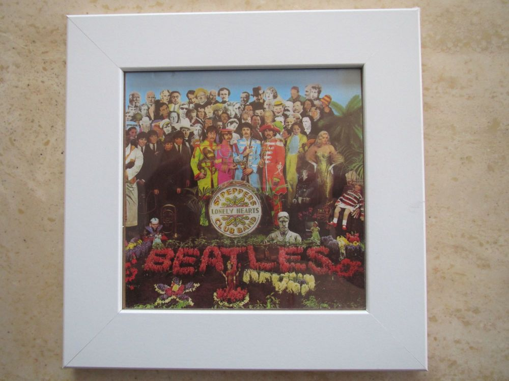 The Beatles  Sgt Peppers Lonely Hearts Club Band  Framed  Original CD Album